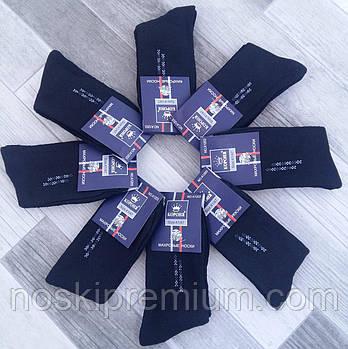 Шкарпетки чоловічі махрові бавовна Корона, розмір 41-47, чорні, 1205