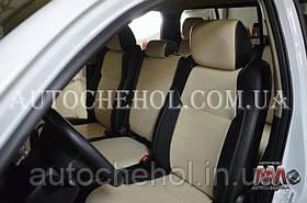 Качественные бежевые чехлы на сиденья Toyota tundra 2007, авточехлы на тундра, серая нить, AM-X, automania