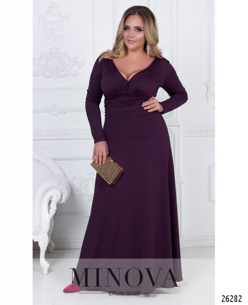 829f30a40a4334f Роскошное вечернее платье-макси с глубоким декольте - Beatrissa-shop -  оптовый интернет-