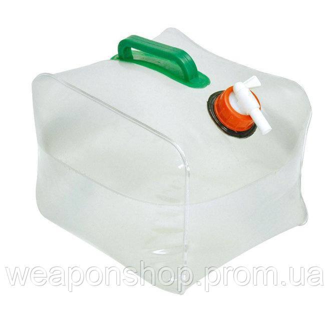 Пищевая складная канистра для воды 15 литров, цвет - белый, с доставкой по Киеву и Украине