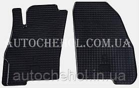 Качественные резиновые коврики в салон Fiat Punto, Stingrey, 2 штуки
