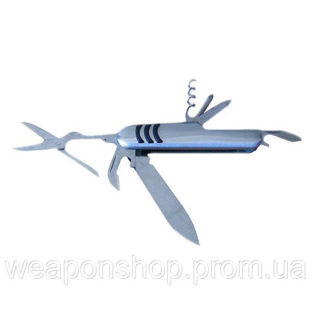 Швейцарский нож мультитул 7 в 1 Серебристый, мультиинструмент, с доставкой по Киеву и Украине