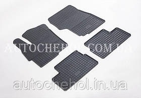 Качественные резиновые коврики в салон Mitshibishi Lancer X 1,5, Stingrey, КОМПЛЕКТ