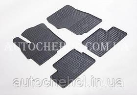 Качественные резиновые коврики в салон Mitshibishi Lancer X 1,6, Stingrey, КОМПЛЕКТ