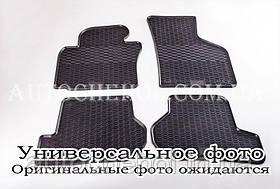 Качественные резиновые коврики в салон Mitshubishi Lancer X 1,6, Stingrey, 2 штуки