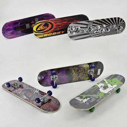 Скейт F 22225  (12) 6 видов, колесо d=5cm, PVC, длина доски =71см