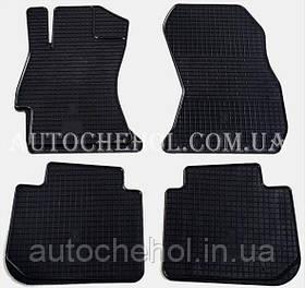 Качественные резиновые коврики в салон Subaru Legacy 2009 - 2015, Stingrey, КОМПЛЕКТ