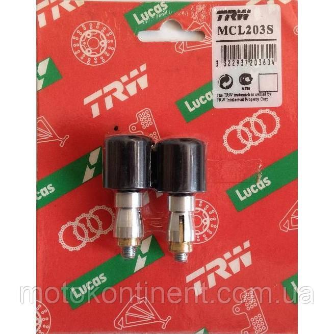 Наконечники алюминиевого руля мотоцикла (диаметром 22 мм с толщиной стенок 5 мм) TRW  MCL203S
