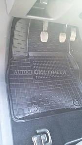 Качественные черные резиновые коврики в салон Ford Focus 2, Avtogumm