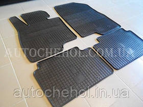 Якісні чорні гумові килимки в салон Mazda 3, Evolution-Stingray, Чехія