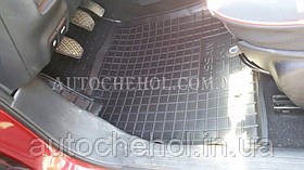 Качественные черные резиновые коврики в салон Nissan Juke, AVTOGUMM