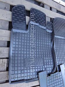 Качественные черные резиновые коврики на Renault Logan, Автогум