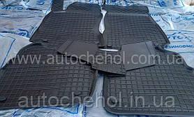 Качественные черные резиновые коврики на Skoda Superb II, автогум