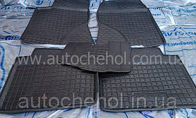 Качественные черные резиновые коврики на Toyota Avensis II, автогум