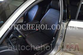 Качественные черные чехлы на сиденья Seat Toledo, авточехлы на толедо, красная нить, AM-S, automania