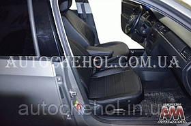 Качественные черные чехлы на сиденья Seat Toledo, авточехлы на толедо, серая нить, AM-S, automania