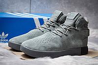 Зимние кроссовки на меху Adidas Tubular Invader Strap, серые (30443),  [  41 42 43 44 45  ]