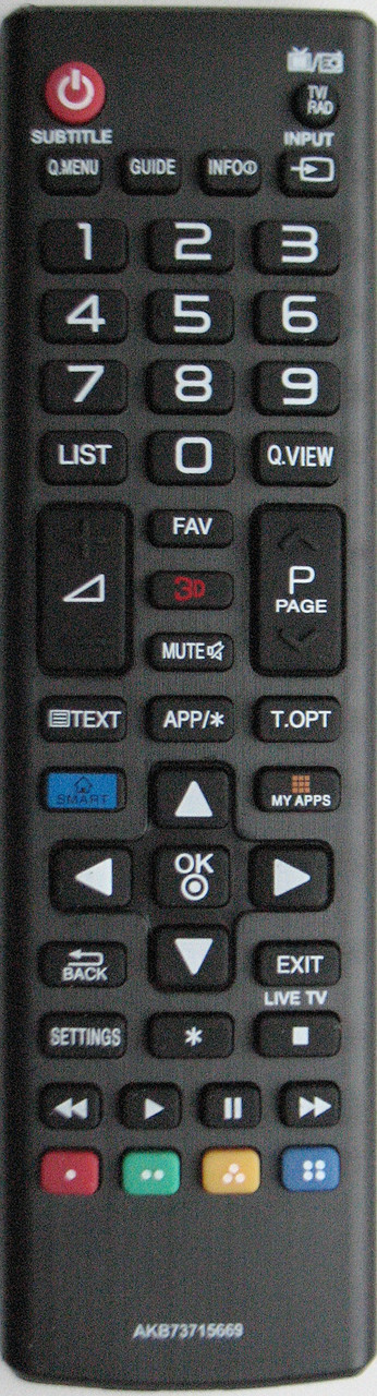 Пульт от телевизора LG. Модель AKB 73715669