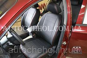 Качественные чехлы на сиденья Chevrolet aveo хетчбек, красная нить, AM-S, automania
