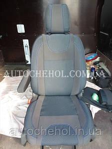 Качественные чехлы на сиденья Ford TRansit 2014 1+1, светлые чехлы на transit 2014, Cobra