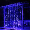 Светодиодная Гирлянда Штора Новогодняя Занавеска 360 LED 3 х 3 м Цвета в Ассортименте, фото 4