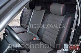Качественные чехлы на сиденья Toyota Tundra 2007, 3-х местный, эко кожа, AM-S, automania