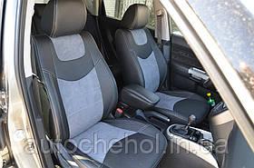 Качественные чехлы на сиденья из алькантары и арпатеки на Kia Soul Leather StyLe, MW BROTHERS