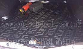 Качественный черный ковер в багажник RENAULT Logan