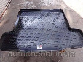 Качественный черный резиновый ковер в багажник Chevrolet Cruze