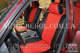 Червоні чохли на сидіння BMW, авточохли бмв е 34,п AM-S, automania