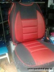 Майка на автомобильные сиденья черно-красная