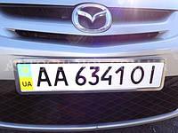Металическая рамка для номера авто, рамка номера без решетки