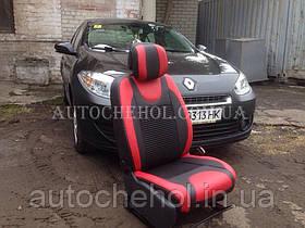 Модельные чехлы на сиденья Renault Fluence 2012, чехлы на риофлюенс, серия Color, Cobra