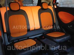 Модельные чехлы на сиденья Smart 2014, чехлы на смарт 2014, серия Color, Cobra