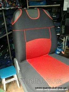 Накидка на сиденья - майка черно-красный цвет