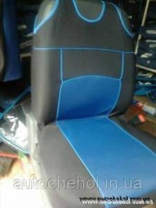 Накидка на сиденья - майка черно-синий