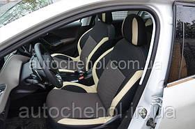 Светлые чехлы на сиденья Peugeot 3008 2013, Premium Style, Mw Brothers