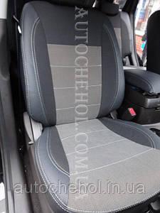 Сірі авточохли на Hyndai Santafe 2, чохли на сантафе,Premium Style MW BROTHERS