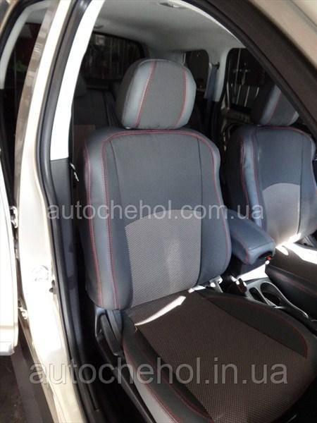 Серые качественные чехлы на сиденья Mitshubishi Outlander XL, Premium Style, MW_BROTHERS
