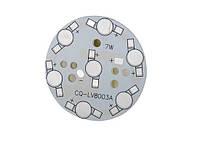 Плата алюминиевая (подложка) для 7-и светодиодов