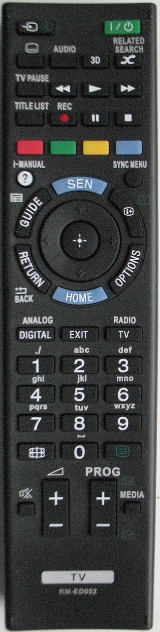 Пульт для телевизора SONY.3D Модель RM-ED052