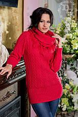 Женский тёплый свитер хомут, фото 3