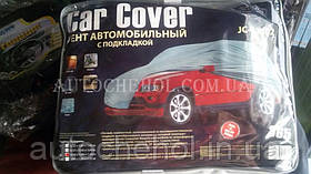 Тент автом. JC13401 L на джип/минивен серый с подкладкой PEVA+PP Catton 457х185х145
