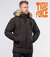 Tiger Force 55825 | Мужская зимняя куртка кофе  ( S M L XL 2XL)