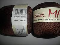 Maxi (Макси) 100% мерсеризованный хлопок 9655 шоколад