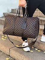 Сумка дорожная ручная кладь саквояж спорт для путешествий Louis Vuitton копия реплика