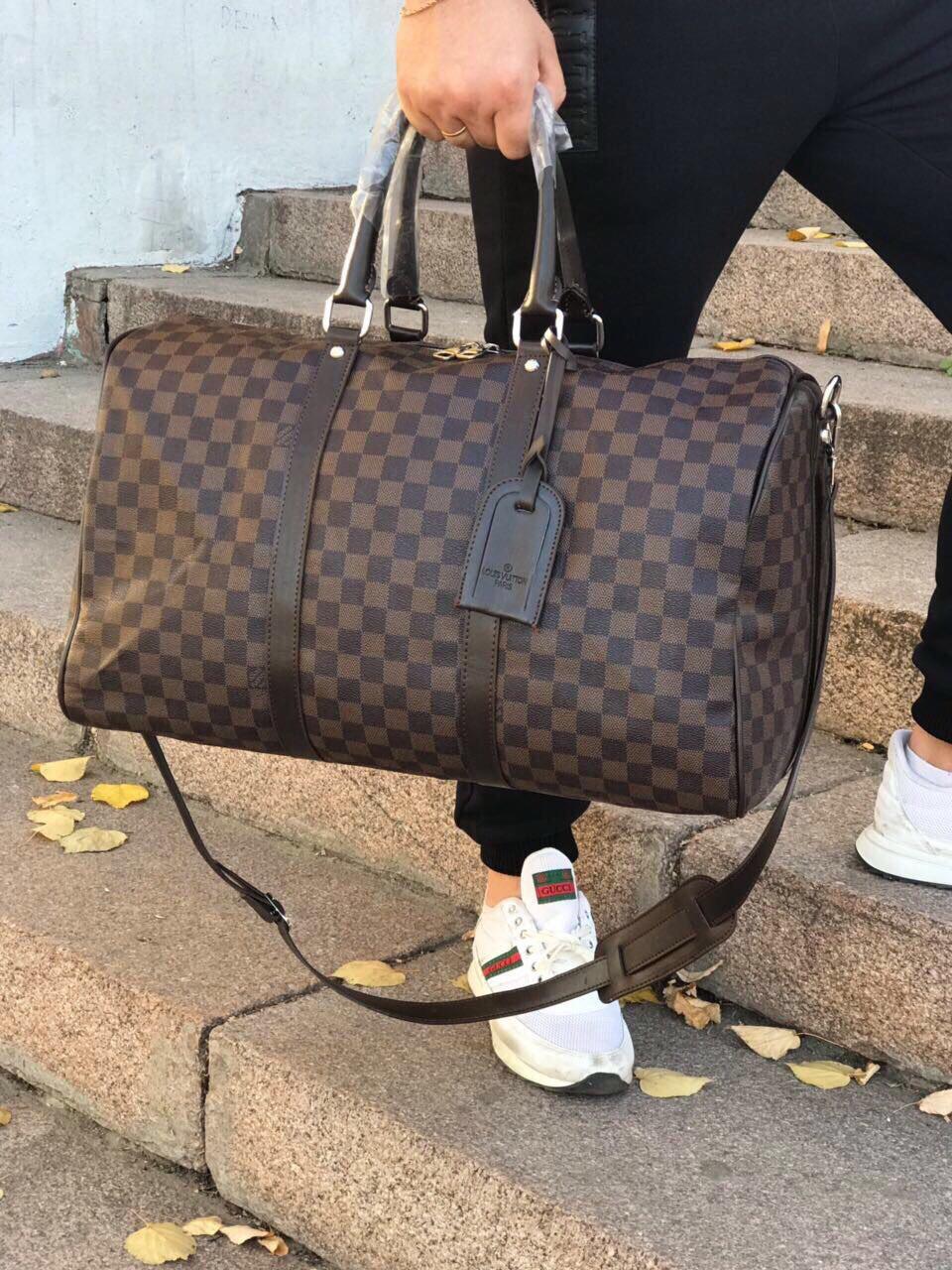 f8d1eec1d9bf Сумка дорожная ручная кладь саквояж спорт для путешествий Louis Vuitton  копия реплика - AMARKET - Интернет