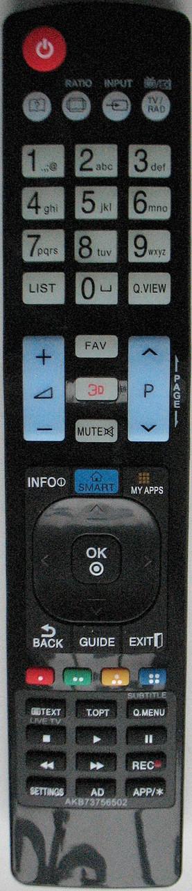 Пульт с телевизора LG. Модель AKB 73756502 (3D)