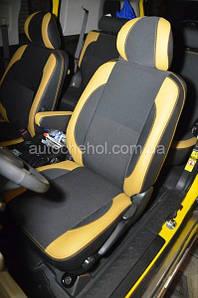Черно-желтые чехлы на сиденья Toyota FJ Cruiser, Premium Style MW BROTHERS