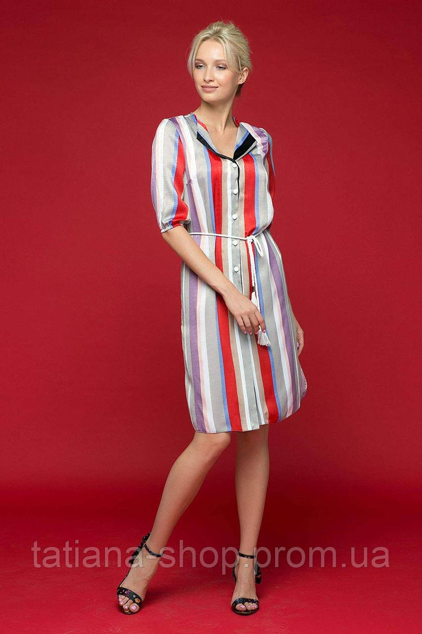 ebabb621152e5e6 Платье-рубашка с воротником